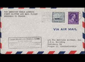 Erstflug Brüssel-Prag-Wien per PAN American World Airways, BRÜSSEL 16.6.1946