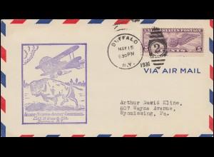 Sonderflug Second National Airport Conference USA-Brief BUFFALO 15.5.1930