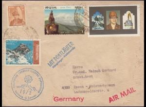 Nepal Deutsche Everest-Lhotse-Expedition 1972 Mit Postläufer, KATHMANDU 29.3.72
