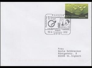 2852 Element Wasser, EF Brief SSt Essen Kind trinkt Wasser 13.4.2012