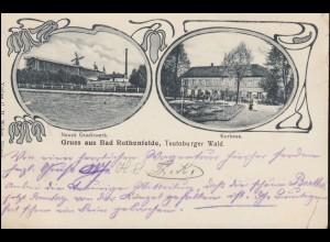 Ansichtskarte Gruss aus Bad Rothenfelde Gradierwerk Kurhaus, 3.9.06 nach Breyell