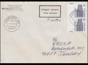 Sächsische Schwärzung AP 789I Hitler 2x15 Pf. Orts-Postanweisung CHEMNITZ 5.7.45