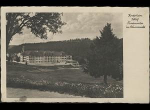 Ansichtskarte Kinderheim Schloß Friedenweiler Station Neustadt, gelaufen