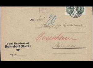 42II Netz auf 16 Pf. als MeF auf Brief SELBITZ / OBERFRANKEN 31.8.48 nach Hof/S.