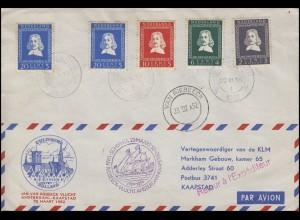 Sonderflug Amsterdam-Kaapstad KLM Jan van Riebeeck 25.3.1952 + zurück SSt 6.4.52