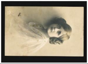 SBZ Postkarte P 36a/01 Engels 12 Pf. DV M 301 C 8088 von DAHLEN (Sachsen) 5.5.49