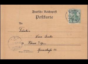 Künstler - Postkarte aus Holz von MAINZ 8.4.02 nach WORMS 18.4.