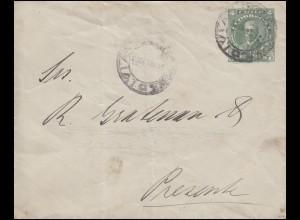 Chile: Umschlag 4 Centavos Portrait grün VALDIVIA 21.11.1913