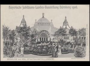 Ansichtskarte Bayerische Landesausstellung Nürnberg 1906, EF NÜRNBERG 12.5.06