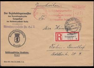 AFS Der Bezirksbürgermeister von Berlin-Tempelhof 27.9.44 auf Orts-R-Brief