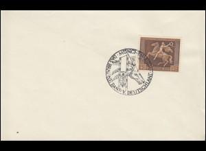 671 Das Braune Band 1938 auf Blanko-Umschlag SSt MÜNCHEN 31.7.38