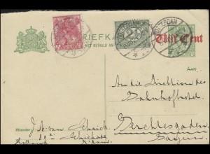 Niederlande P 77 mit Zusatzfrankatur von ROTTERDAM 6.7.1921 nach Berchtesgaden