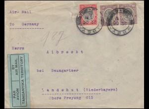 Brief aus MBEYA 22.10.31 über IRINGA, DODOMA, MWANZA und ATHEN nach Landshut
