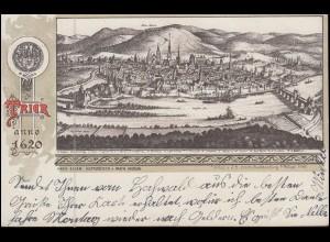 Ansichtskarte Trier anno 1620, PLUWIGER HAMMER, um1905 nach Breyell