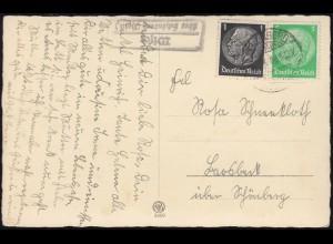 Tag der Briefmarke Schmuck-Brief gedruckter R-Zettel, SSt VATERSTETTEN 27.11.82