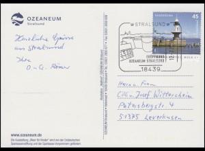 Ansichtskarte Ozeaneum Meer für Kinder SSt Stralsund Eröffnung Ozeaneum 12.7.08