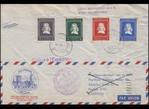 Sonderflug Amsterdam-Kaapstad KLM Jan van Riebeeck 25.3.1952, weiter nach Israel