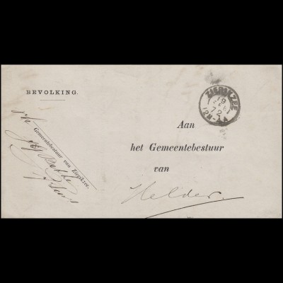Niederlande Dienstbrief Zierikzee 19.2.72 an die Gemeinde Helder 20.2.