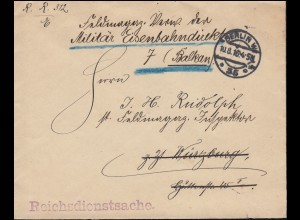 Reichsdienstsache Gewalttätigkeiten gegen Zivilpersonen Brief BERLIN 10.8.1916