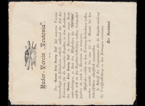 Argentinien Kartenbrief Ruder-Verein TEUTONIA Training für Regatta, um 1895