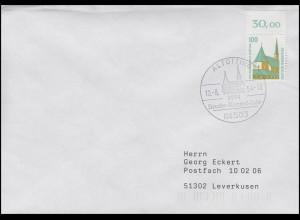 1406 SWK Altötting, OR GUMMI WEISS Bf. SSt Altötting Bruder-Konrad-Jahr 10.8.94