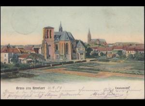 Ansichtskarte Gruss aus Kevelaer Totalansicht, 21.8.1904 nach BREYELL 22.8.04