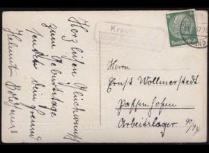 58 Ziffer 6 Pf. violett MeF auf Brief MORITZBURG (SACHSEN) 4.1.1946