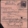 Sächsische Schwärzung AP 797I Hitler 60 Pf. auf Postanweisung CHEMNITZ 13.7.45