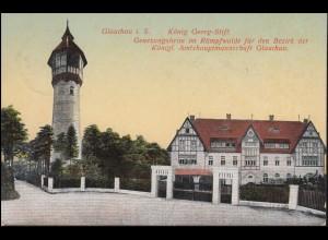 Ansichtskarte König-Georg-Stift, GLAUCHAU 17.5.1912 nach Breyell