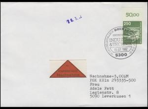 1137 IuT Flughafen Frankfurt/Main, Oberrandstück, EF NN-FDC ESSt Bonn 15.7.1982