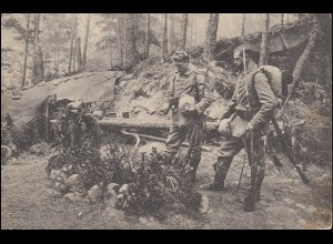 Feldpost Reserve Fuss-Artillerie-Reg.10 - 3.7.15 AK Soldatengrab auf dem Hohnack