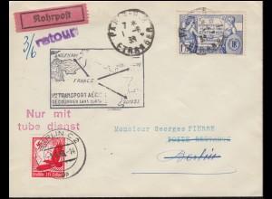 Erstflug Frankreich-Deutschland 1.6.1938 Bf. 362 Verfassung der USA PARIS 1.6.38