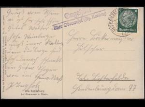 Katapultpost S.S. BREMEN - SOUTHAMPTON 17.6.34, Seepost - Hab.159c