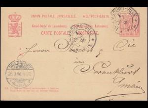 Chile: Umschlag 10 Centavos Portrait braun gelaufen 21.4.14 nach Valdivia 24.4.