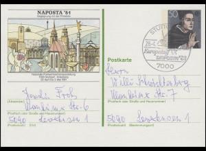 PSo 6 NAPOSTA'81, FDC ESSt Stuttgart Europatag & NAPOSTA 28.4.1981