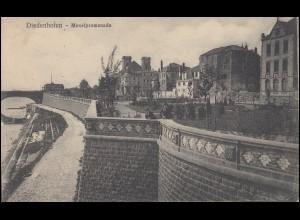 Ansichtskarte Diedenhofen - Moselpromenade, 21.8.17 mit Zensur und Briefstempel