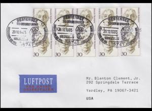 1488 Käthe Kollwitz Malerin, MeF Brief passender SSt Bestensee 29.10.95