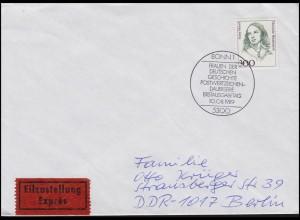 1433 Fanny Hensel Musikerin, Eil-FDC ESSt Bonn 10.8.1989