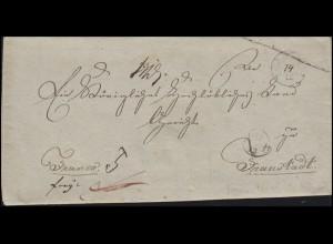 Preußen Vorphilatelie Brief 1834 nach FRAUSTADT Provinz Posen