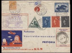 Sonderflug Niederlande-Südafrika KLM Bf AMSTERDAM 6.12.38 nach Pretoria & zurück