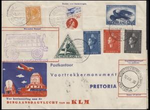Sonderflug Niederlande-Südafrika KLM AMSTERDAM 6.12.38 Bf nach Pretoria + zurück