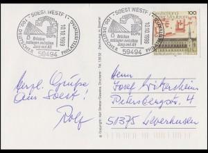 1966 Kloster Maulbronn EF AK Fußgängerzone SSt Soest Philatelistentag 10.10.1999