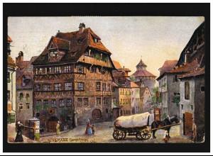 Postkarte P 4 mit 3mal 912 NAUEN 19.6.1947 nach Berlin mit Nachgebührstempel