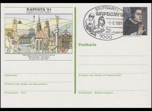 PSo 6 NAPOSTA'81, SSt Stuttgart Tag der Jugend & Briefmarkensammeln 1.5.1981
