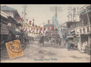 Ansichtskarte Japan: Chinesischer Teil von Osaka / Sennichi Maye Osaka, um 1910
