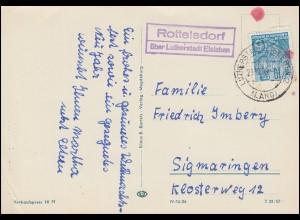 Landpost Rottelsdorf über LUTHERSTADT EISLEBEN 23.12.56, AK Weihnachen / Neujahr