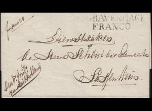 Niederlande Vorphilatelie Briefhülle zweizeiler S'GRAVENHAGE FRANCO (um 1823)