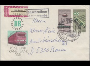 DDR U 3 Sozialistisches Eisenbahnwesen R-Brief SSt Berlin Ferneisenbahn 18.4.89