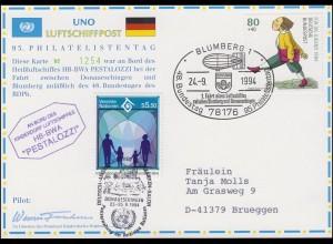 Luftschiffspost DKL 26 B PESTALOZZI 48. BDPh-Bundestag & UNO BLUMBERG 24.9.94