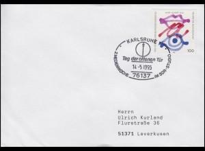 1789 Meinungsfreiheit EF Bf SSt Karlsruhe Medienwoche im SDR-Studio 14.5.1995